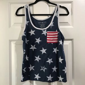 Old Navy red, white and blue tank top
